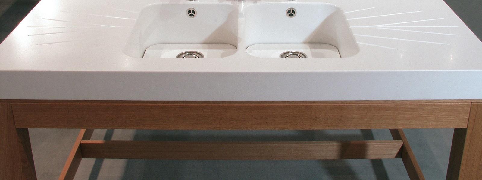 Corian tafel op maat – duurzaam en hygiënisch  Correnti # Wasbak Tafel_142156